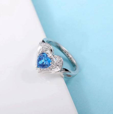 anneau coeur d'ange