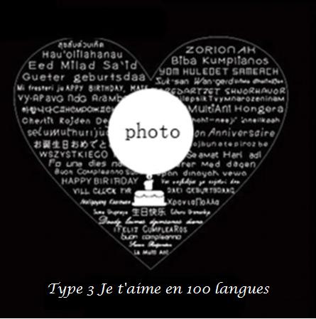 bague photo personnalisé je t'aime en 100 langues