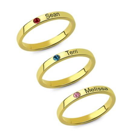 bague famille 3 anneaux